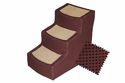 Pet Gear Designer 3-Step with Removable Cover Pet Stairs Burgundy New
