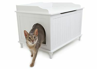 Designer Pet Products Catbox Litter Box Enclosure in White New