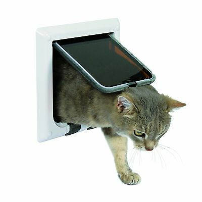 Trixie Pet Products 4-Way Locking Cat Door White New