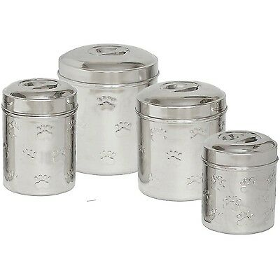 Iconic Pet 51661 Set of 4 Different Sizes-Canister with Embossing New