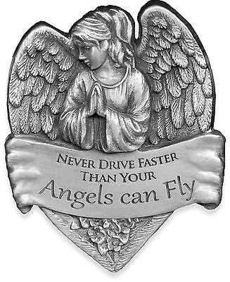 AngelStar 15731 Metal Visor Clip 2-1/2-Inch Never Drive Faster Than Your ... New