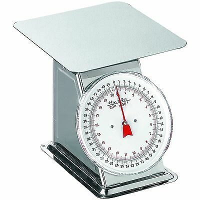 Weston Flat Top Dial Scale 44-Pound Silver 1-Pack New