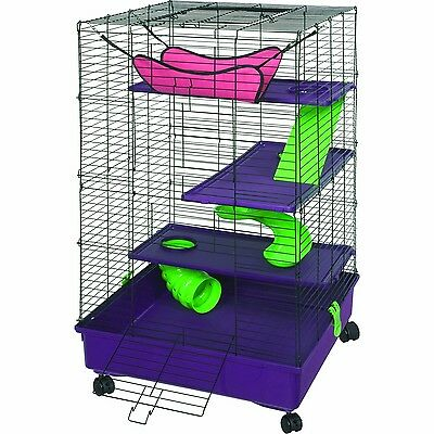 Kaytee My First Home Deluxe Multi-Level Pet Home with Casters New