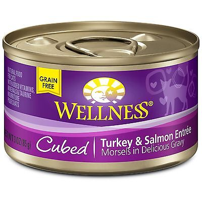 Wellness Natural Food for Pets Natural Grain Free Wet Canned Cat Food Cub... New