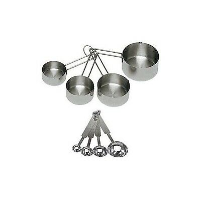 ChefLand 8-Piece Deluxe Stainless Steel Measuring Cups and Measuring Spoo... New