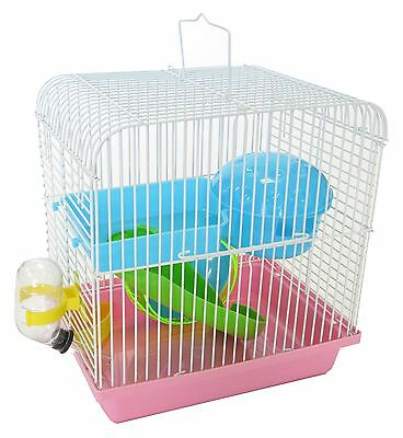 Yml H157Pk Dwarf Hamster Mice Cage Travel Cage with Accessories Pink New