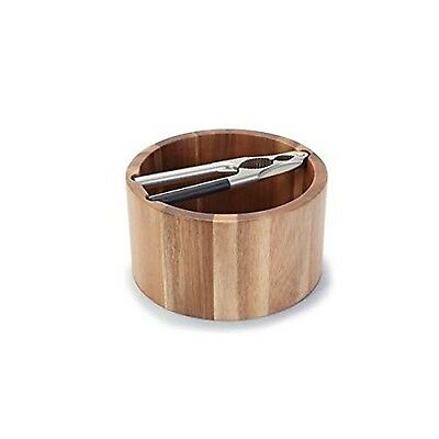 Natural Living Acacia Wood Nut Bowl And Nut Cracker New