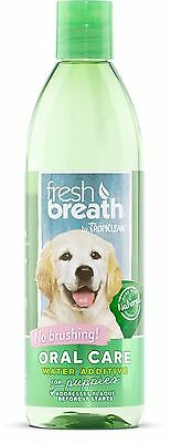COSMOS Tropiclean Fresh Breath Puppy Water Additive Dental Care 16-Ounce. New
