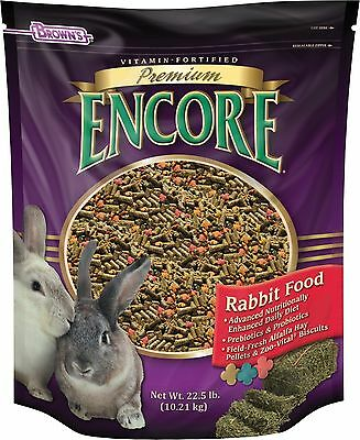 F.M. Brown Encore Rabbit Food 22.5-Pound New