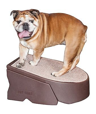 Pet Gear One Step Stair Chocolate Extra Wide New