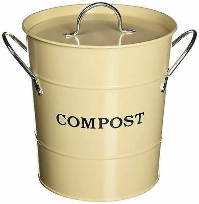 Exaco CPBS 01 1-Gallon 2-in-1 Indoor Compost Bucket Oatmeal New