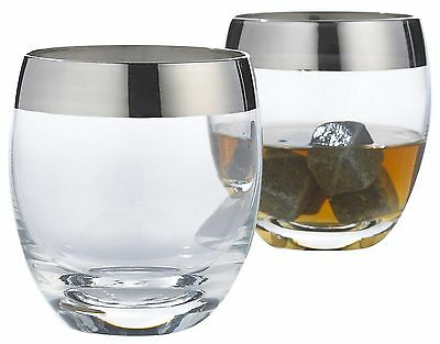 Wine Enthusiast Madison Avenue Whiskey Glasses set of 2 New