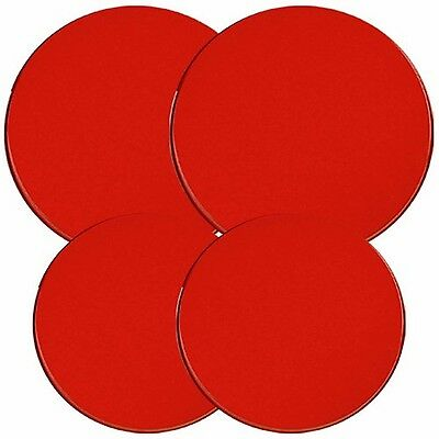 Reston Lloyd Electric Stove Burner Covers Set of 4 Red New