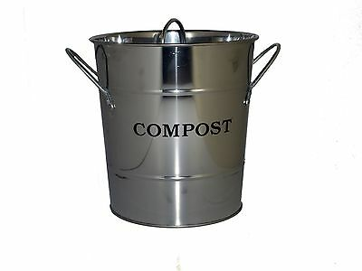 Exaco CPBS 03 Small 2 in 1 Kitchen Compost Bucket Stainless Steel New