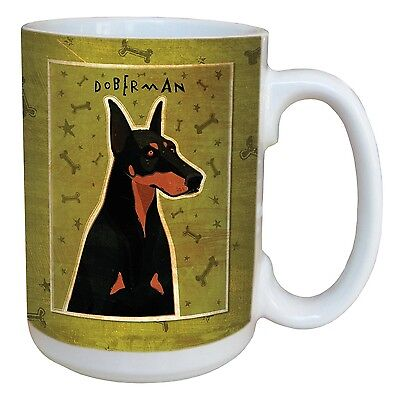 Tree-Free Greetings sg44009 Doberman by John W. Golden Ceramic Mug with F... New