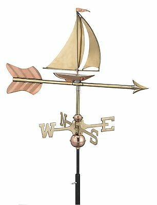 Good Directions Sailboat Cottage Weathervane with Roof Mount Pure Copper New