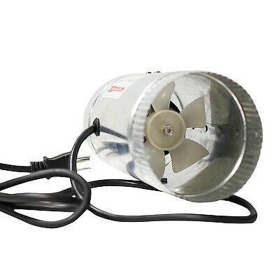 iPower GLFANXBOOSTER4 Inline Ducting Booster Fan with Cord 4-Inch Diameter New