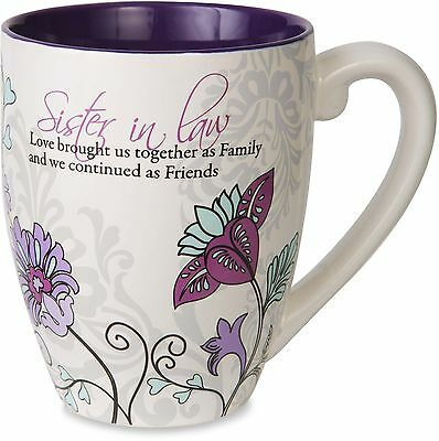 Mark My Words Pavilion Gift Company Sister In Law Floral Butterfly Coffee... New