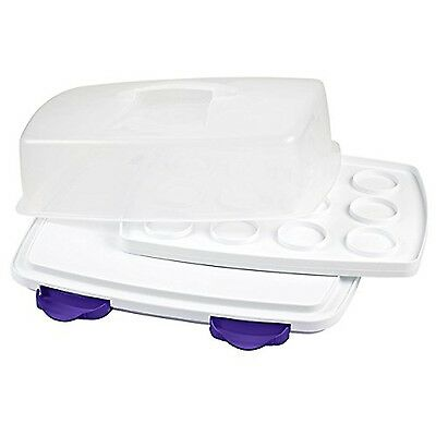 Wilton 2105-9958 Ultimate 3-In-1 Cupcake Caddy and Carrier New