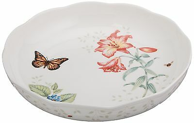 Lenox Butterfly Meadow Low Serve Bowl White New