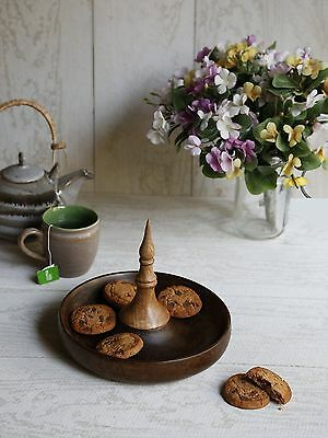 Store Indya Handmade Wooden Snack or Coffee Serving Platter New