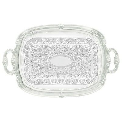 Winco CMT-1912 Oblong Tray with Integrated Handle Chrome New