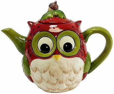 Cosmos 10915 Gifts Ceramic Owl Teapot 6-Inch New