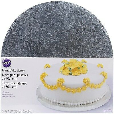 Wilton Silver Cake Bases 12 Inch Round 12in New