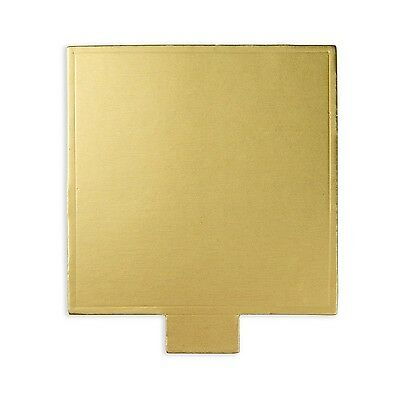 Restaurantware 200 Count Square Sturdy Serve Base 2.8-Inch Gold New