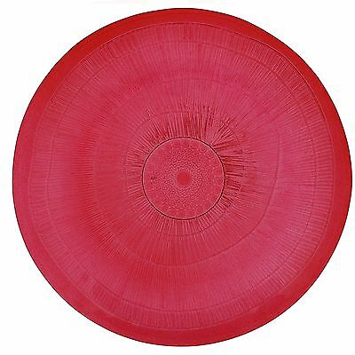 French Home 18-Inch Ice Platter Cranberry Red New