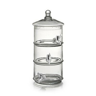 Fifth Avenue Crystal 210907 Royal Glass Beverage Dispenser Clear New