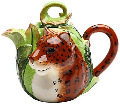 Cosmos 20832 Gifts Ceramic Leopard Teapot 5-7/8-Inch New