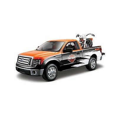 Maisto 1958 FLH Duo Glide and 2010 Ford F150 Pickup Diecast Vehicle New