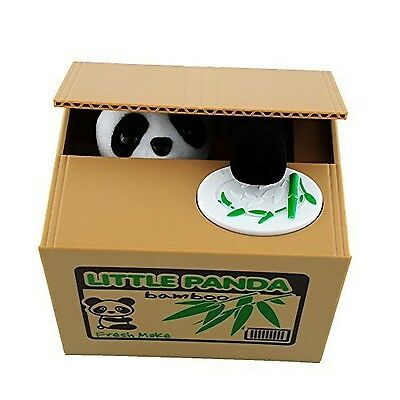 Soledi Cute Itazura Automatic Stealing Coin Panda Coins Penny Cents Piggy... New