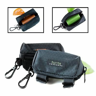Mighty Paw Dog Poop Bag Holder Premium Quality Pick-up Bag Zippered Pouch... New