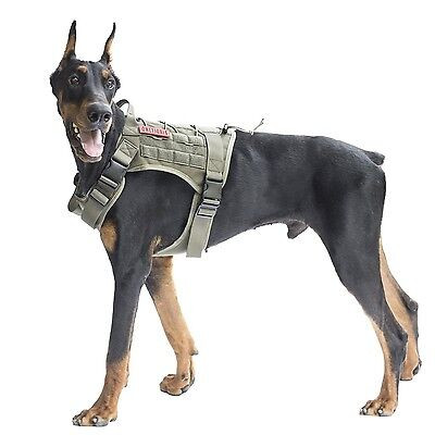 OneTigris Tactical Dog Vest Harness  Waterproof Comfortable Military Patr... New