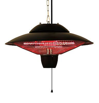 Ener-G+ Indoor/Outdoor Ceiling Electric Patio Heater Black New