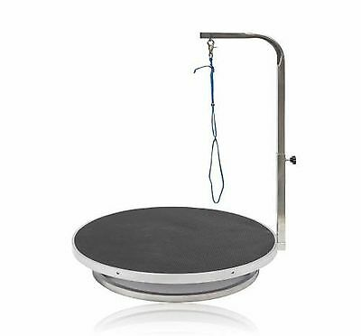 Go Pet Club GT-301 22-Inch Diameter Pet Dog Grooming Table with Arm Black New