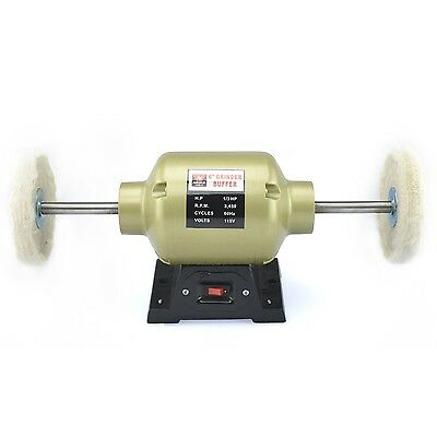 Neiko 10205A 2.35 Amp 6-Inch Bench Buffer and Grinder 1/3 HP Includes Two... New
