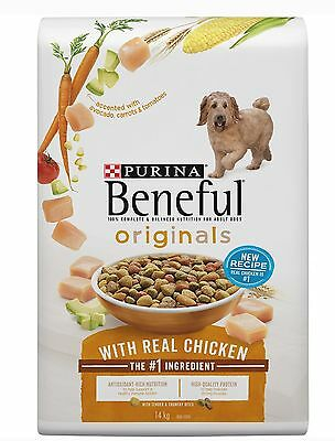 Purina Beneful Original With Chicken Dry Dog Food 14kg New