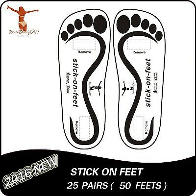 25 Pairs Spray Tan sticky feet for Sunless Airbrush Tanning New