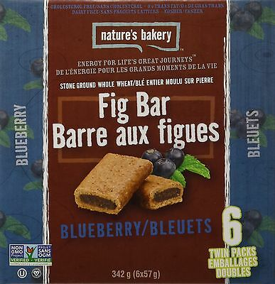 Nature's Bakery Fig Bars (Pack of 6) Whole Wheat Blueberry 340.2g New