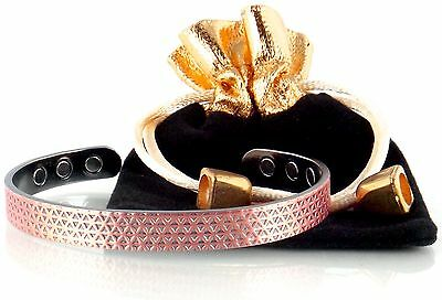 Luxury Copper Magnetic Bracelet For Men & Women-Magnetic Therapy Jewelry ... New