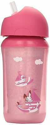Philips Avent Insulated Straw Cup 9-Ounces Single (Colors may vary) SCF76... New