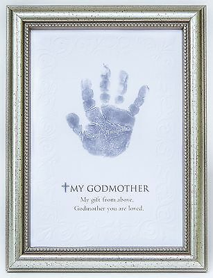 The Grandparent Gift Frame Wall Decor Godmother Handprint New