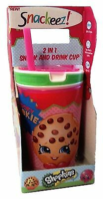 Snackeez Shopkins 2 in 1 Snack and Drink Cup (Pack of One Cup Colors and ... New