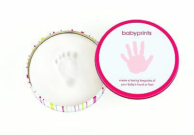 Pearhead Babyprints Tin Pink New