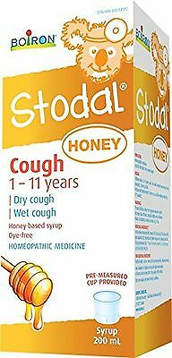 Boiron Stodal Cough Syrup Honey Children200 Milliliter New