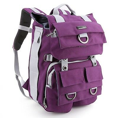 Canvas SLR/ DSLR Camera Backpack Evecase Multi Purpose Outdoor Large Came... New