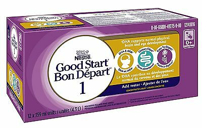 NESTL GOOD START 1 with DHA & ARA Concentrate 12x359ml (12 Pack) New
